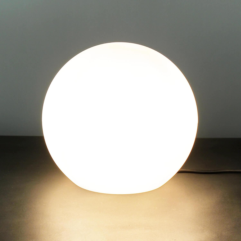 Stilvolle Gartenlampe Weiß runder Schirm Ø30cm