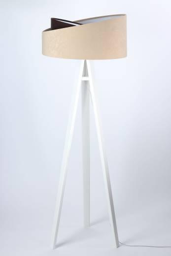 Stehlampe Beige Braun Dreibein 145cm Wohnzimmer Licht