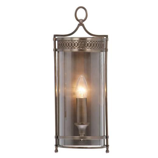 Rustikale Wandleuchte KUPOLA Bronze Design Lampe