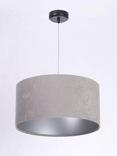 Pendelleuchte Grau Silber Stoff Esstisch Retro