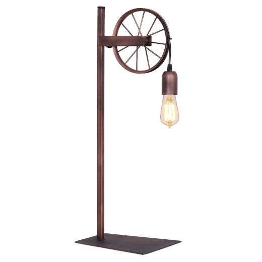 Außergewöhnliche Tischlampe Vintage Lampe Kupfer