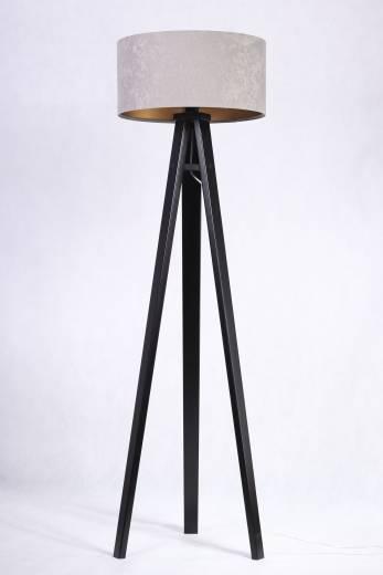 Stehlampe JERRY Grau Gold Retro 140cm Wohnzimmer