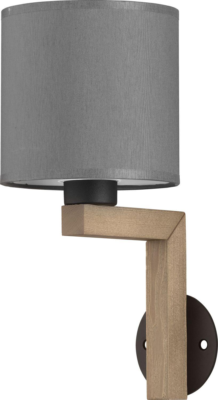 Wandleuchte TROY Graphit Holz Wohnzimmer Holzlampe
