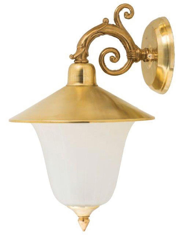Wandlampe Außen Messing Glas Hof Rustikal IP23