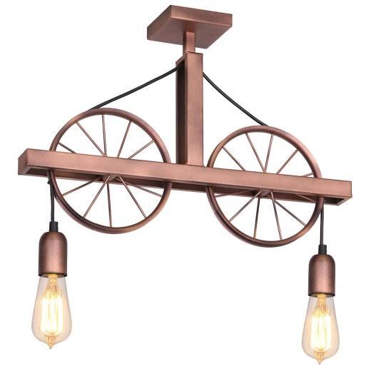 Metall Deckenlampe Kupfer Wohnzimmer Rustikal