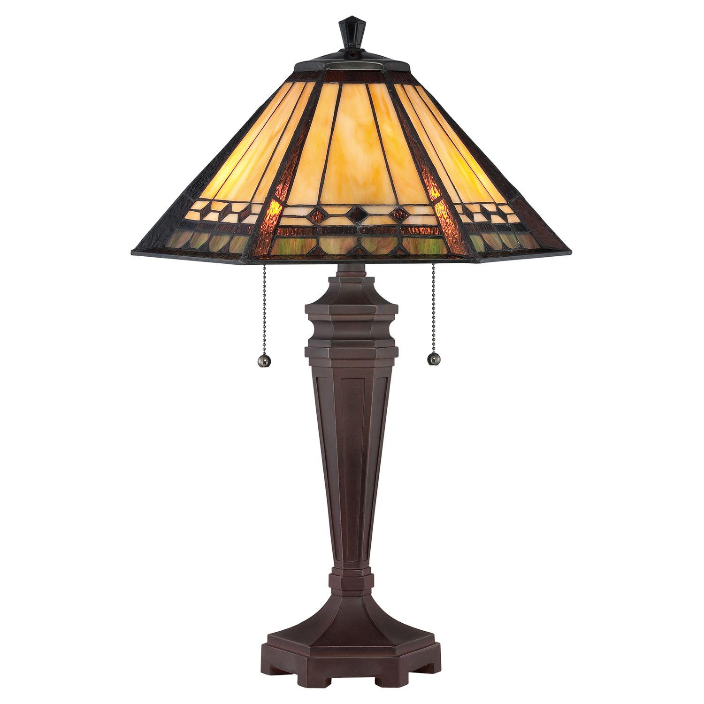 Tiffany Tischlampe Zugschalter 60cm hoch ETERNO