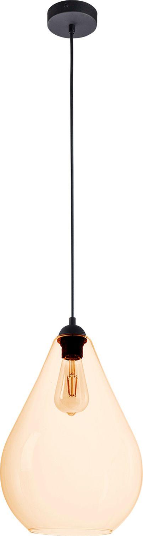 Hängelampe in Bernstein Schwarz Esstisch Lampe E27