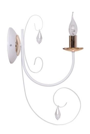 Wandleuchte Weiß Kupfer Kerzenhalter Design CHLOE