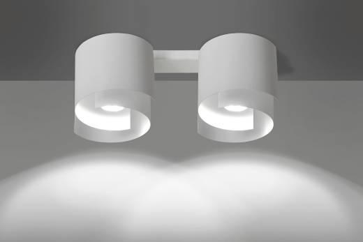 Deckenleuchte Weiß Metall Design rund 2x GU10