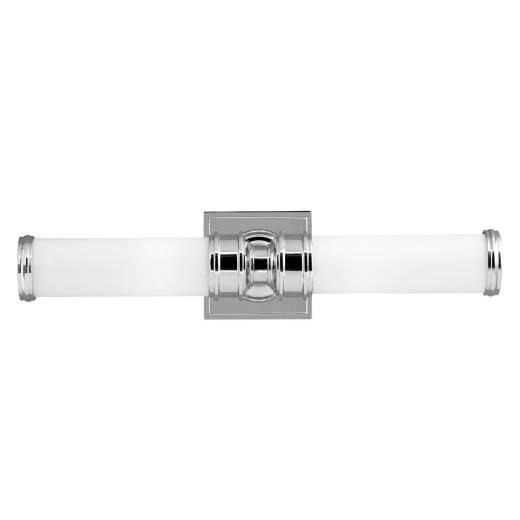 LED Badlampe Wand drehbar IP44 Weiß Chrom AMINE