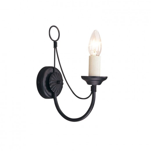 Schwarze Wandlampe Metall Rustikal elegant GOTICA 1