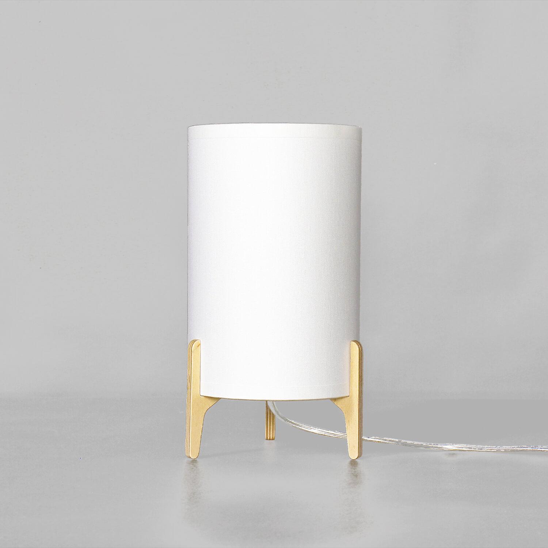 Moderne Nachttischlampe Stoff Weiß Zylinder ALICE