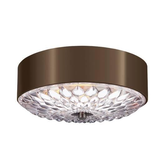 Stilvolle Deckenlampe Kristall Metall Ø35cm Schlafzimmer