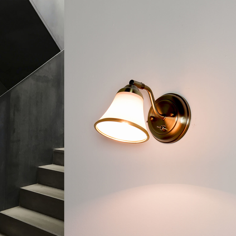 GRANDO Wandlampe Wohnzimmer schwenkbar Jugendstil