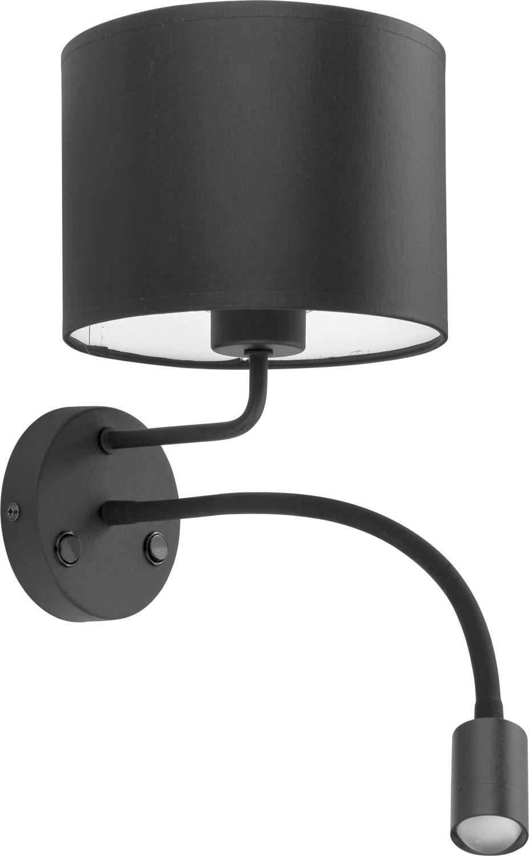 Wandlampe mit LED Leselicht Schwarz Bett Leuchte