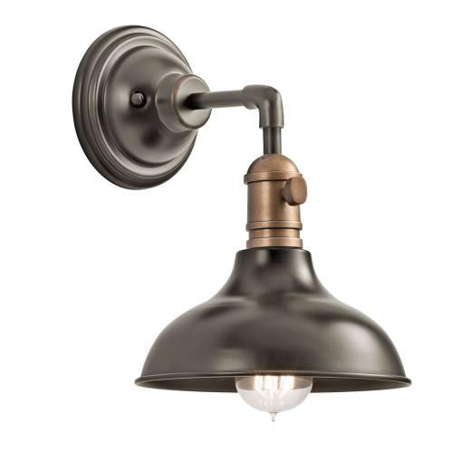 Designer Wandlampe Braun Metall Industrie extravagant