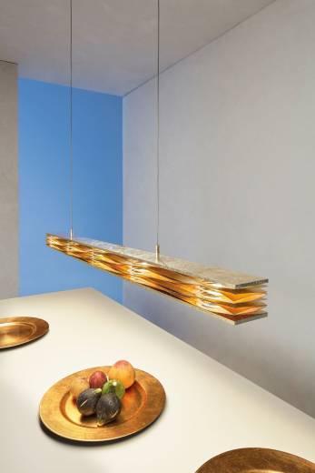 Escale - 48390009 Stilvolle Pendelleuchte LED dimmbar Blattgold edel MILLE FEUILLES