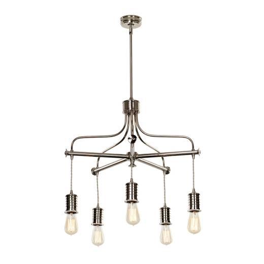 Deckenleuchte COLGAR Messing 5xE27 Vintage Lampe