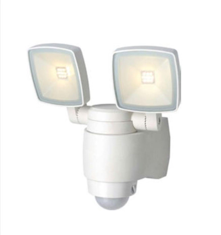 LED Außenlampe mit Bewegungsmelder Weiß IP44 AMINA