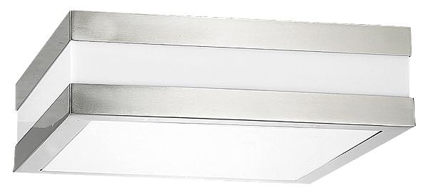Eckige Deckenleuchte für Außen Silber Weiß L29cm