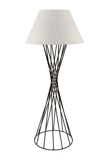 Designer Standleuchte Grau Schwarz 145cm Modern