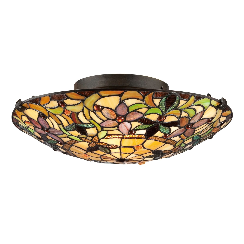 Deckenleuchte FARFALLA 6 Bronze Tiffany Lampe