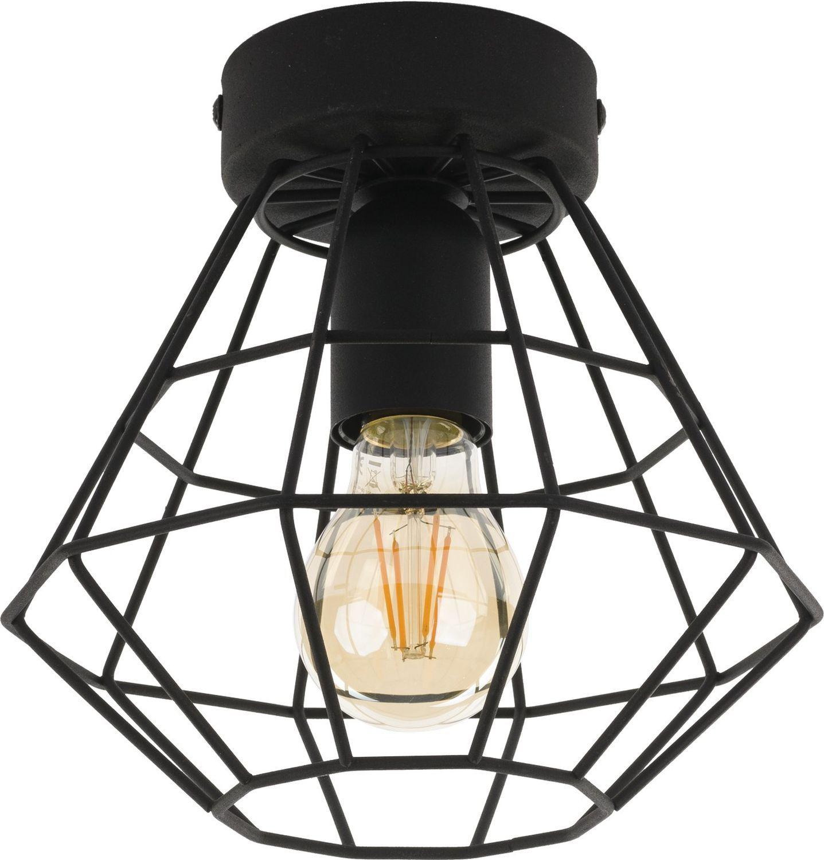 Deckenlampe Schwarz Ø29cm Metall Wohnzimmer Modern