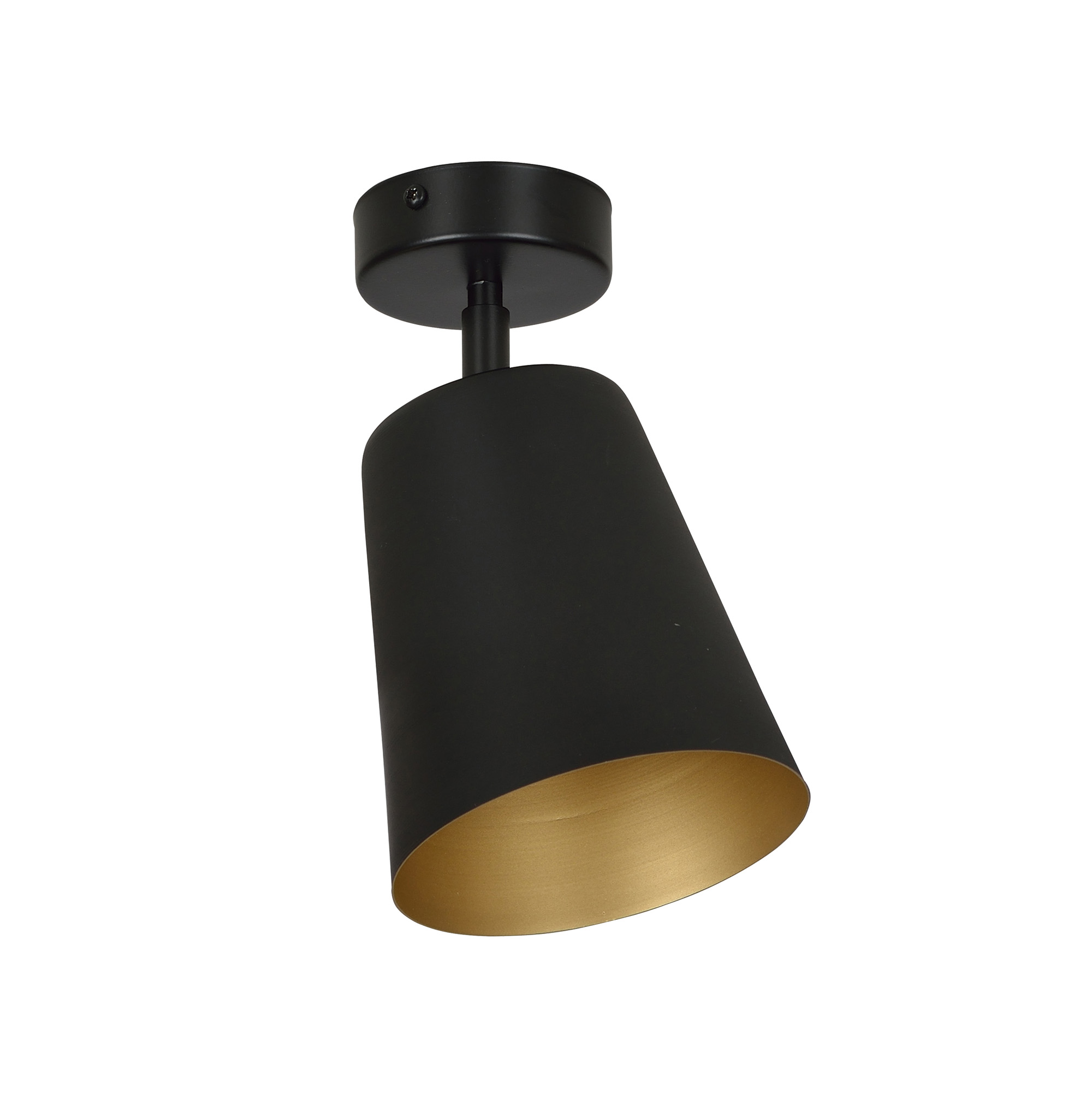 Deckenstrahler Schwarz Gold Retro flexibel E27