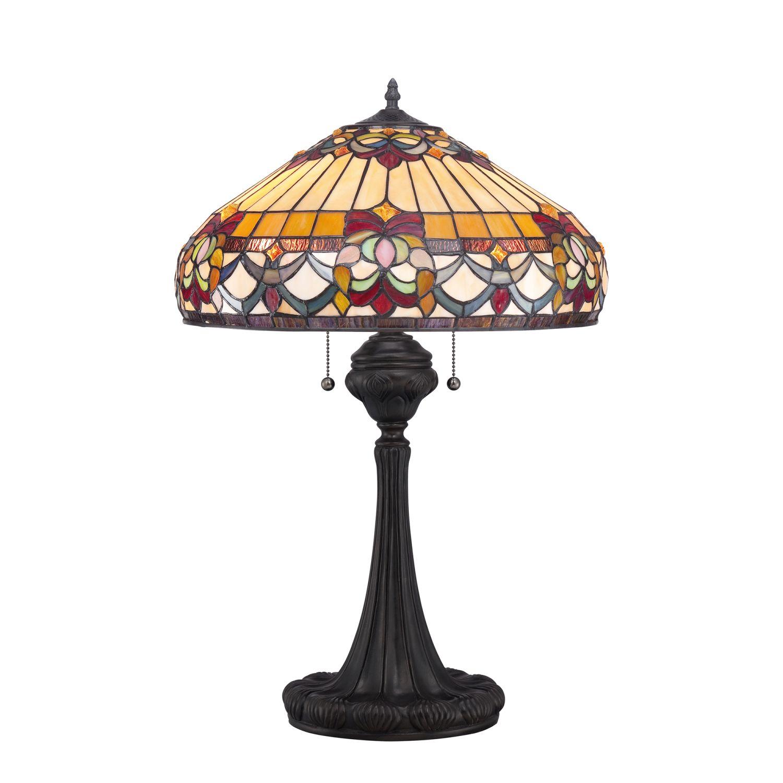 Designer Tischlampe Tiffany Stil 69cm Zugschalter