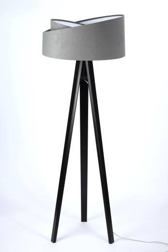 Stehlampe NICO Grau Weiß Dreibein 145cm Wohnzimmer