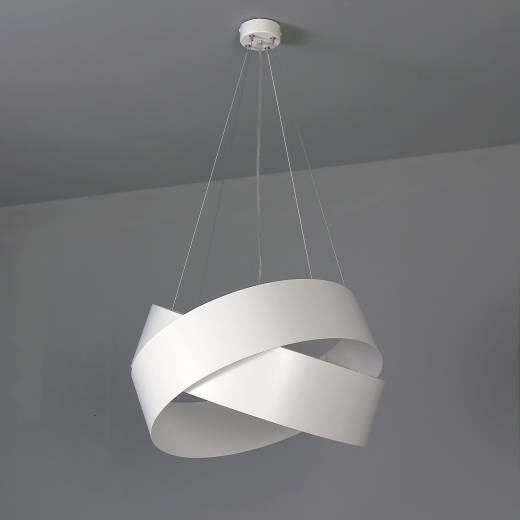Pendelleuchte Weiß Metall Design höhenverstellbar