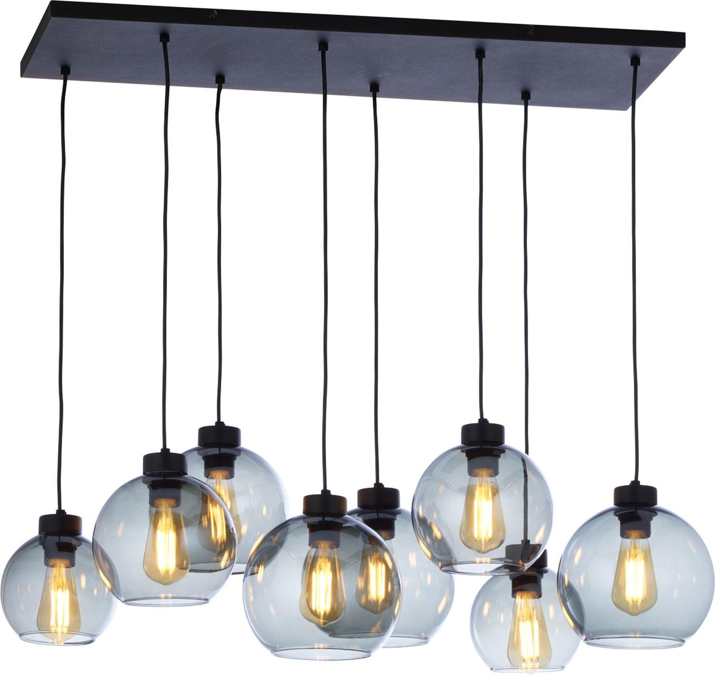Pendelleuchte Schwarz Graphit 8xE27 Esstisch Lampe