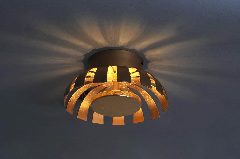 LED Deckenleuchte Gold 1100lm rund 26cm FLARE