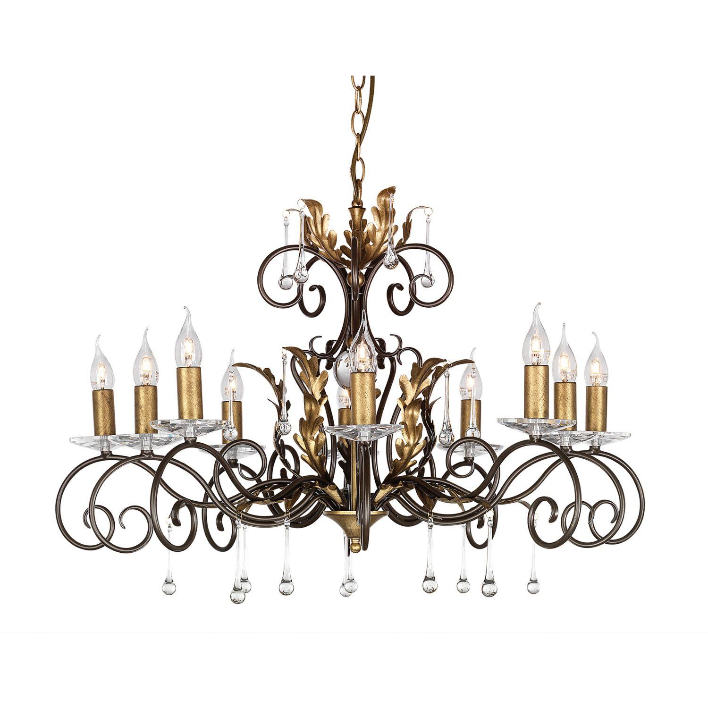 Opulenter Kronleuchter GOTICA Bronze Gold Ø90cm