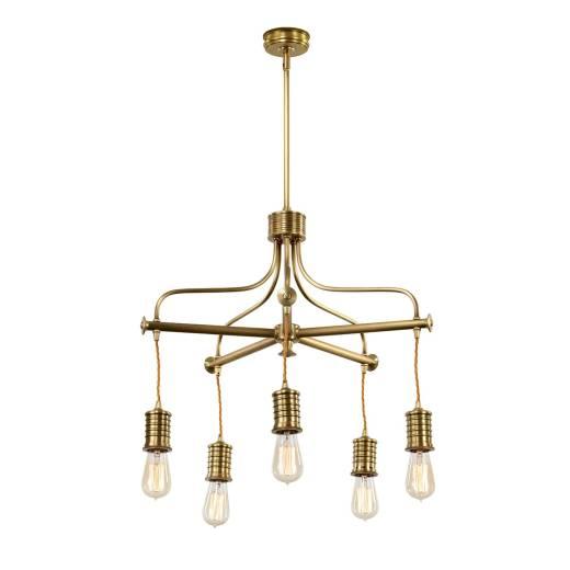 Stylische COLGAR Messing 5xE27 verstellbar Lampe