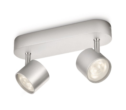 Philips LED Wandleuchte Cyl Silber 2-Flm