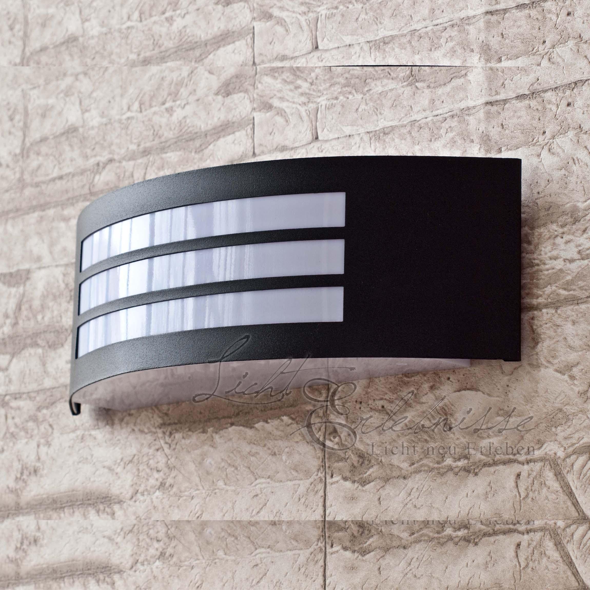 Schwarze Außenwandleuchte IP44 E27 Haus Fassade Außenleuchte