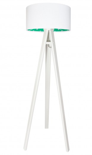 Stehlampe Weiß Grün Dreibein 140cm Kinderzimmer