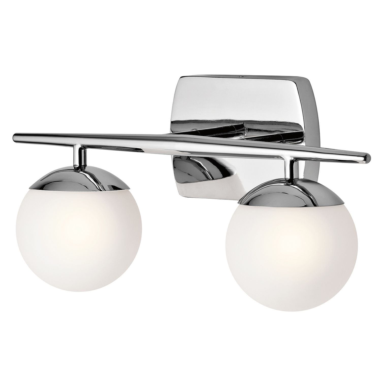 Badezimmerleuchte LED Chrom Weiß blendarm IP44 VERDE