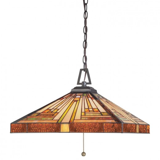 Pendelleuchte ETERNO 7 Bronze Ø46cm Tiffany Lampe