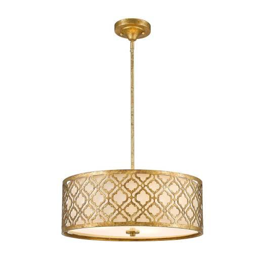 Designer Deckenleuchte rund arabesques Design Blattgold