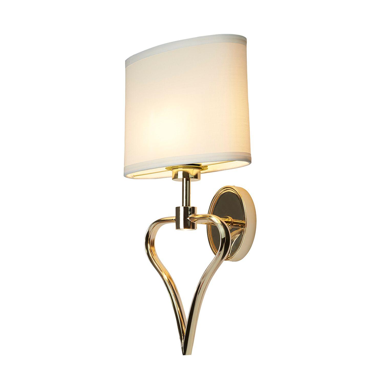 Design Badlampe in Gold LED Herz Form IP44 HATIR
