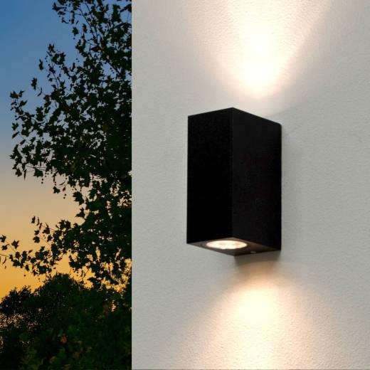 Up Down Leuchte Außen Wandlampe Strahler Schwarz Antik AALBORG Außenwandleuchte