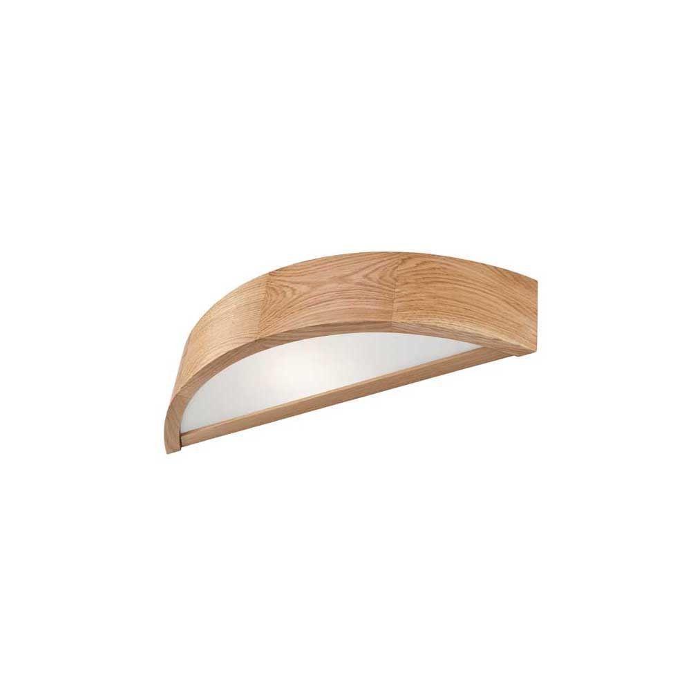 Eiche Wandleuchte Holz 40cm Modern RUDYARD Lampe