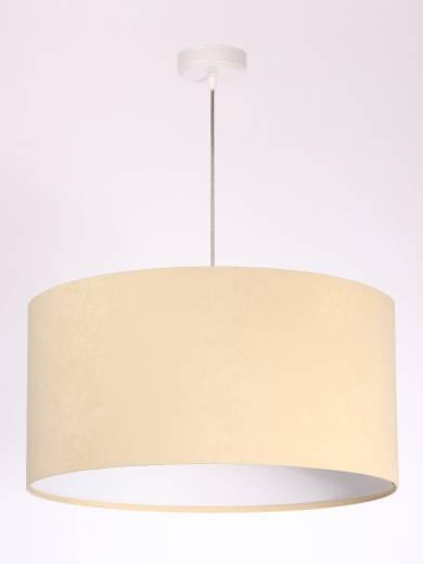 Hängeleuchte Esstisch Lampe Creme Weiß Stoff