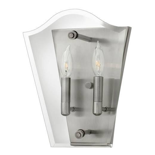 Wandleuchte EDDA in Silber 2xE14 Glas Modern Lampe
