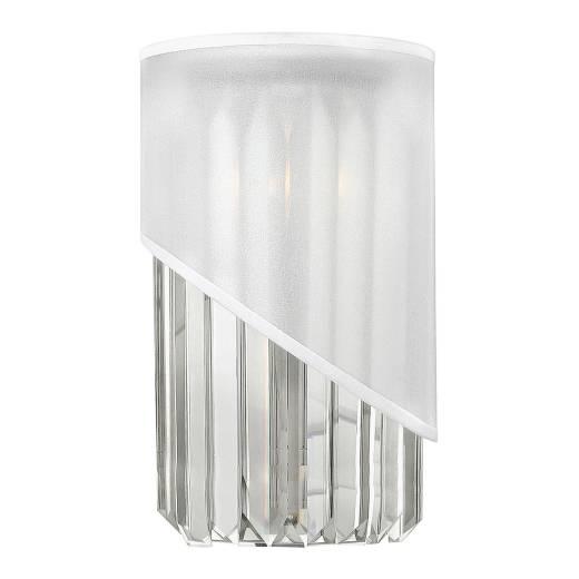 Wandlampe DISFARE Messing in Nickel Kristall Lampe