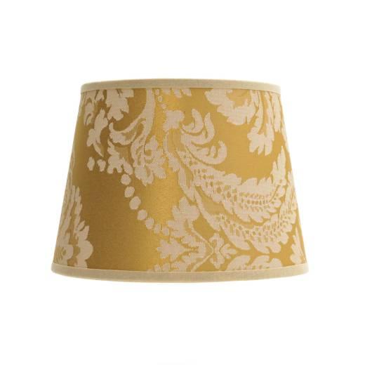 Lampenschirm Gold Barock Design Stoff Tischlampe
