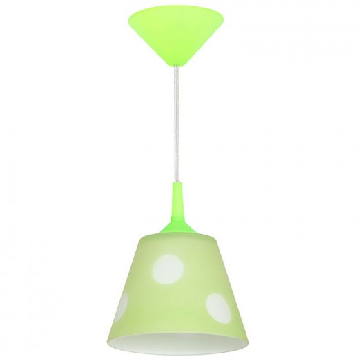 Hängeleuchte rund Glas Grün Ø16cm Kinderzimmer