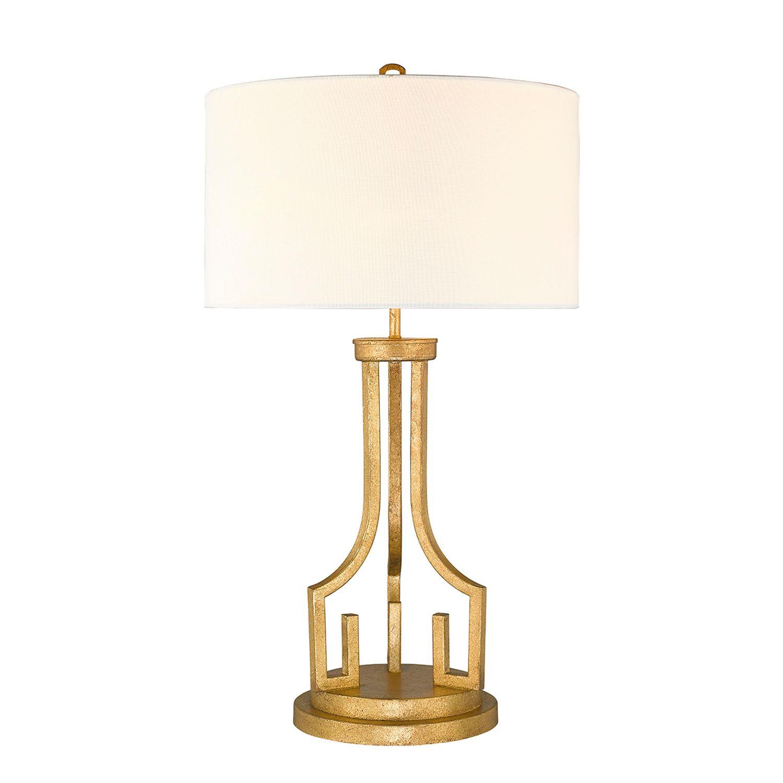 Vintage Tischlampe AIROSO Weiß H:80cm Design Lampe